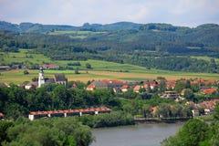 Österrike danube dal Arkivbild