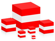 Österrike flagga Royaltyfri Bild