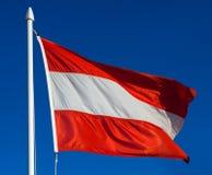 Österrike flagga Royaltyfria Foton