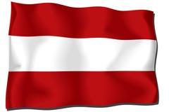 Österrike flagga Royaltyfri Fotografi