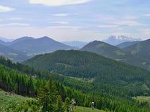 Österrike-framtidsutsikt av alpsna Arkivfoton