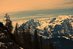 Österrike GÃ-³ry Alpy, Rejon Salzburg Arkivfoton