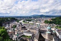 Österrike gammal salzburg townsikt Arkivfoto