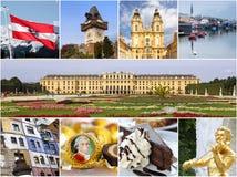 Österrike gränsmärkecollage royaltyfri fotografi