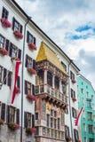 Österrike guld- innsbruck tak arkivbild
