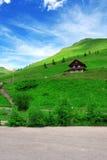 Österrike gulligt hus Arkivfoto