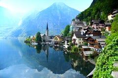 Österrike hallhallstattupper Royaltyfri Foto
