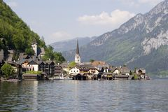 Österrike hallstadt Arkivfoton