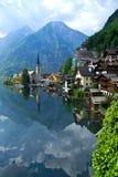 Österrike hallstadtt Arkivfoto