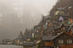 Österrike Hallstat i sommaren Fotografering för Bildbyråer