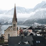 Österrike hallstatt Royaltyfria Bilder