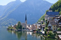 Österrike hallstattsalzkammergut Royaltyfria Bilder
