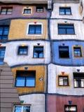 Österrike haushundertwasser vienna Arkivfoto
