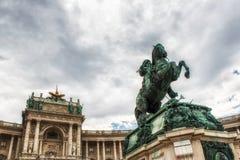 Österrike heldenplatzhofburg vienna Arkivfoto