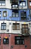 Österrike hundertwasserhaus vienna Arkivfoto