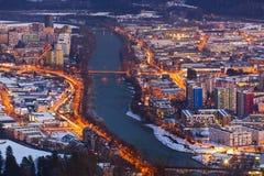 Österrike innsbruck fotografering för bildbyråer