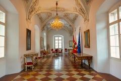 Österrike inre slott salzburg Arkivbild
