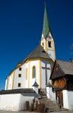 Österrike - Kirchberg i den Tirol kyrkan Royaltyfri Fotografi
