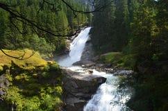 Österrike Krimml nedgångar/Krimmler Wasserfälle Royaltyfri Bild
