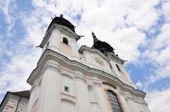 Österrike kyrklig linz pilgrimsfärdpoestlingberg fotografering för bildbyråer