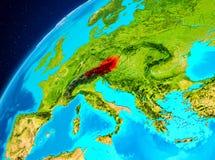 Österrike på jord från utrymme Arkivbilder