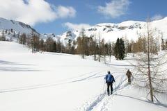 Österrike skitour Arkivfoto