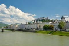 Österrike stad salzburg arkivfoto