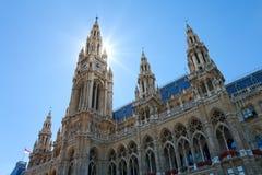 Österrike stadshus vienna Arkivfoton