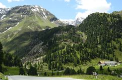 Österrike Tirol, Kaunertal Arkivfoto