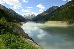 Österrike Tirol, Kaunertal, sjö Arkivbilder