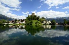 Österrike Tirol, Ladis by Royaltyfri Fotografi