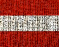 Österrike ull texturerad flagga Arkivfoto