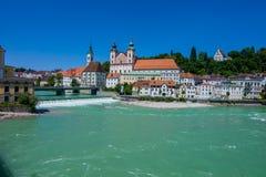 Österrike Upper Austria, steyr Royaltyfri Fotografi