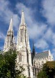 Österrike votive kyrkliga vienna Arkivbilder