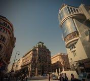 Österrike Wien JUNI 06, 2013, byggnader på Stephansplatz Royaltyfri Bild