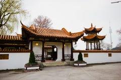 Österrike Wien, 10 mars 2016: Den kinesiska restaurangen i centret Royaltyfri Foto