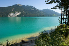 Österrike wolfgangsee arkivbilder