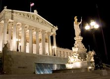 österrikisk byggnadsparlament Royaltyfri Fotografi
