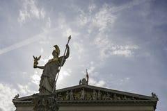 österrikisk byggnadsparlament vienna Arkivbilder