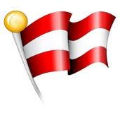 österrikisk flaggaillustration Royaltyfri Foto