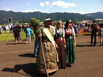 Österrikisk folkklänning Royaltyfria Bilder