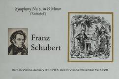 Österrikisk kompositör Franz Schubert royaltyfria foton