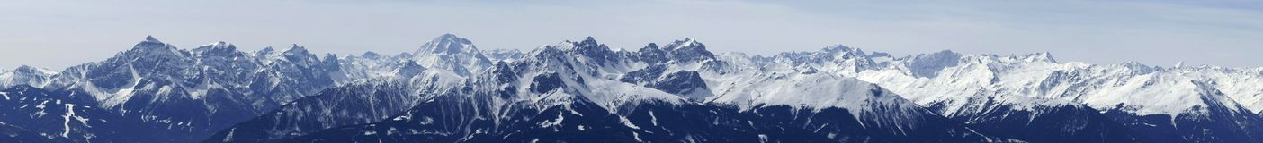 österrikisk mountainrange Royaltyfri Fotografi