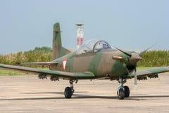 Österrikisk nivå för flygvapenPilatus PC-7 propeller arkivfoto