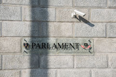 Österrikisk parlament på Oktober 13 i Wien Arkivbilder