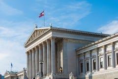 Österrikisk parlament på Oktober 13 i Wien Royaltyfri Fotografi