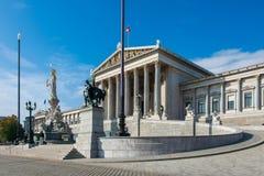 Österrikisk parlament på Oktober 13 i Wien Fotografering för Bildbyråer