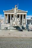 Österrikisk parlament på Oktober 13 i Wien Royaltyfri Bild