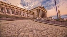 österrikisk parlament vienna Arkivbilder