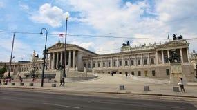 Österrikisk parlamentbyggnad royaltyfri foto